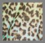 青绿色/绿色豹纹