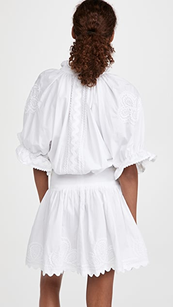 Juliet Dunn Poplin Blouson Dress