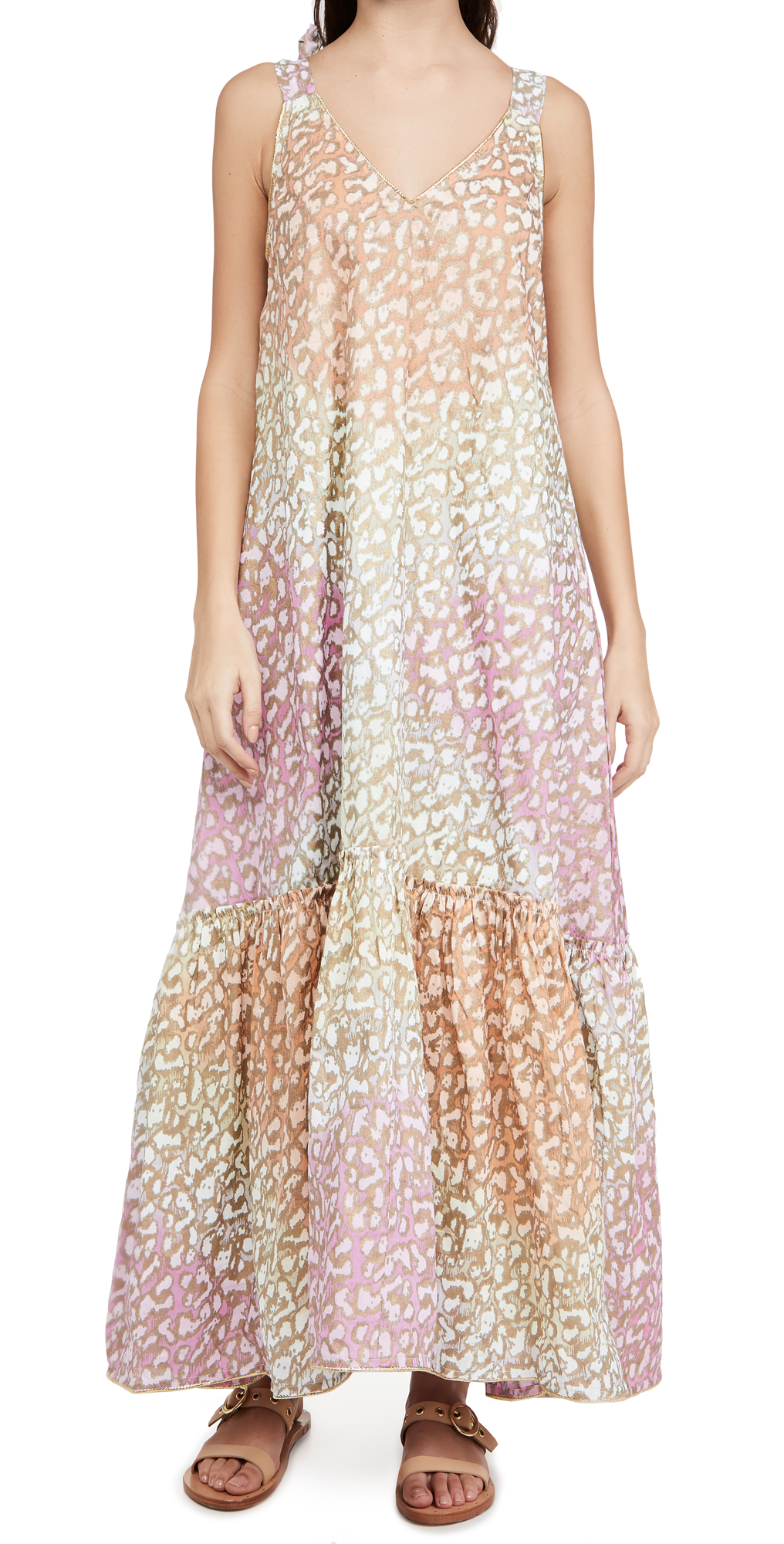 Juliet Dunn V Neck Maxi Dress
