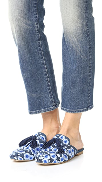 Jeffrey Campbell Apfel Embroidered Tassel Mules Shopbop