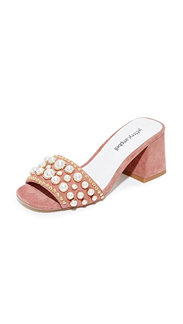 Dark Pink Jeffrey Campbell Parr Embellished Sandals