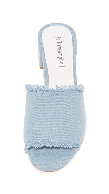 Jeffrey Campbell Beaton Denim Mules