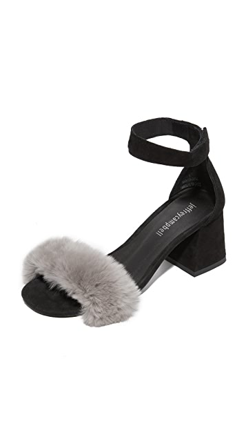 Jeffrey Campbell Fero Fur Sandals