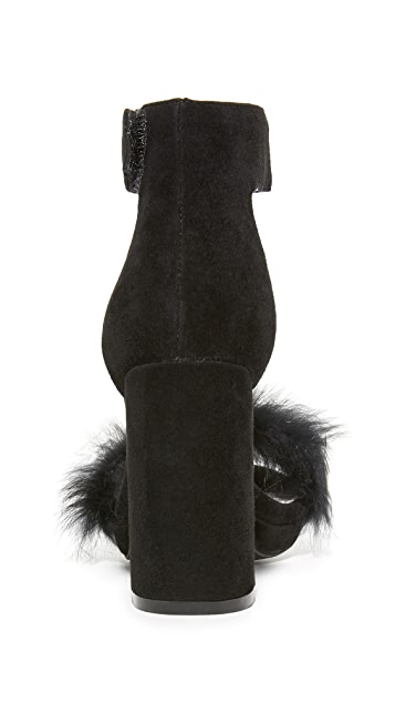 Jeffrey Campbell Lindsay Fur Sandals