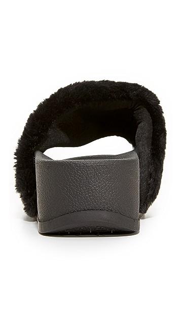 Jeffrey Campbell Lucky Me Platform Faux Fur Slides