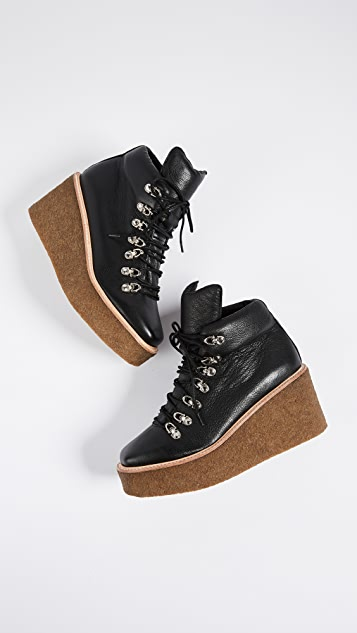 Jeffrey Campbell Viajar Wedge Hiker Booties