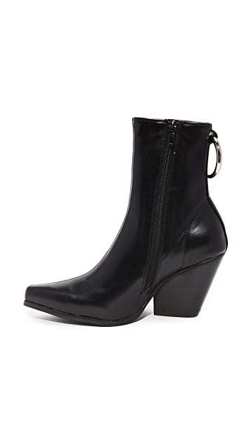 Jeffrey Campbell Walton Block Heel Pointed Booties