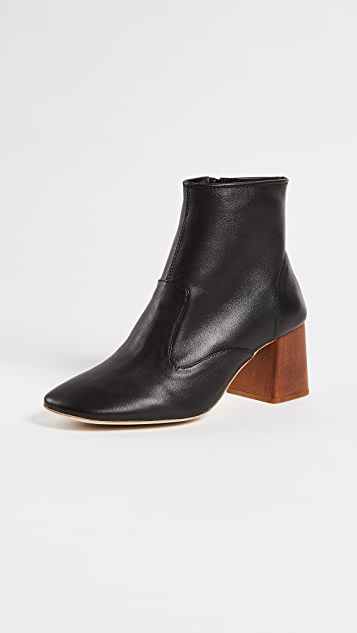 Jeffrey Campbell Kovacs Block Heel Booties - Black