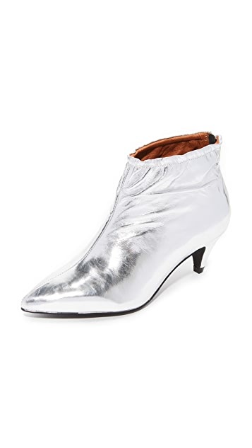 Jeffrey Campbell Zosia Low Heel Metallic Booties