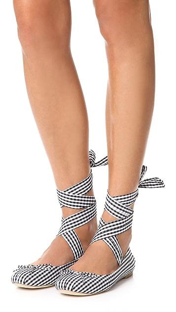 Jeffrey Campbell Sarine Tie Ballet Flats