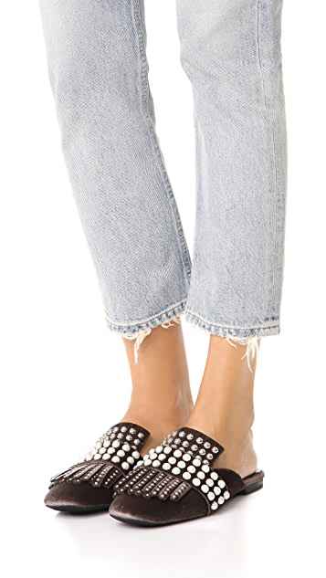 Jeffrey Campbell Ravis Tassle Slip On Mules
