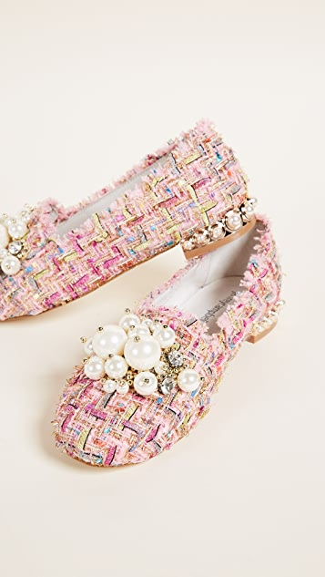 Jeffrey Campbell Honor Tweed Smoking Slippers