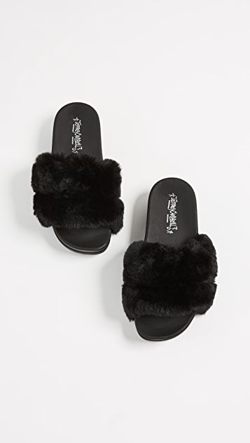 Jeffrey Campbell Lucky Double Strap Slides