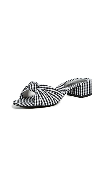 Jeffrey Campbell Beaton Gingham Slides