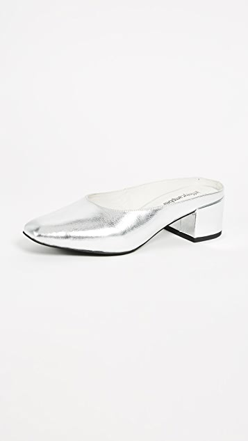 Jeffrey Campbell Oceane Block Heel Metallic Pumps