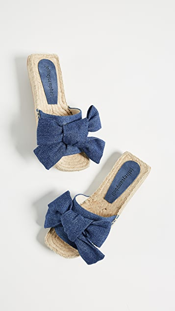 Jeffrey Campbell Denim Bow Slides