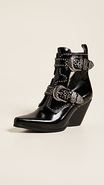 Jeffrey Campbell Welton Buckle Booties