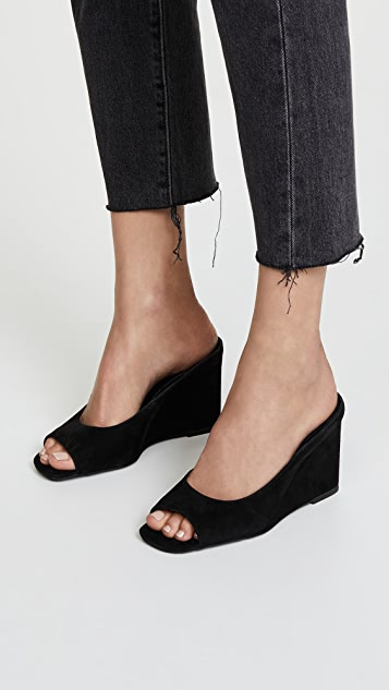 Jeffrey Campbell Generous Peep Toe Wedges