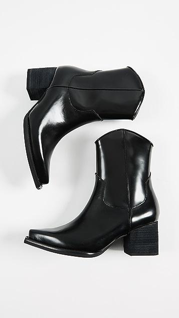 Jeffrey Campbell Larosa Block Heel Boots