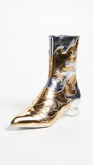 Jeffrey Campbell Skyrocket Flame Ankle Boots