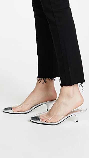 Jeffrey Campbell Jena Kitten Heel Point Toe Mules