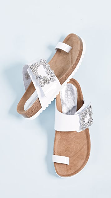 Jeffrey Campbell Bianca Toe Ring Slides