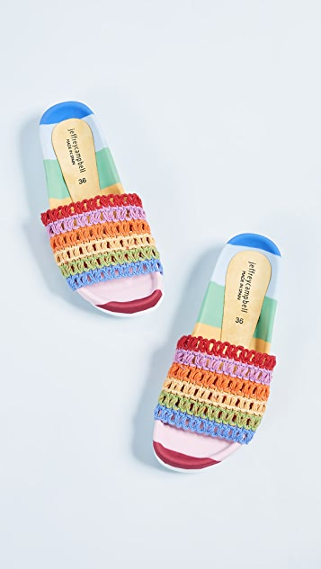 Jeffrey Campbell Coco Rainbow Slides
