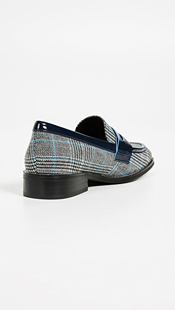 Jeffrey Campbell Hornsby Plaid Loafers