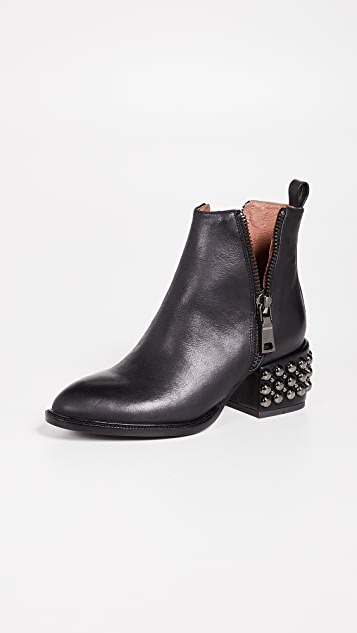 Jeffrey Campbell Boone Studded Heel Zip Booties ... d049574c117a