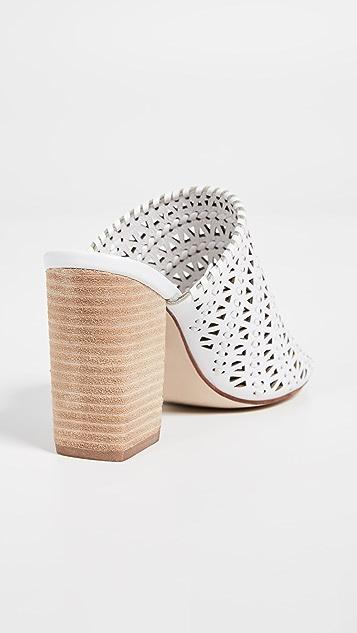 Jeffrey Campbell Туфли из ткани без задников Kelowna на квадратном каблуке