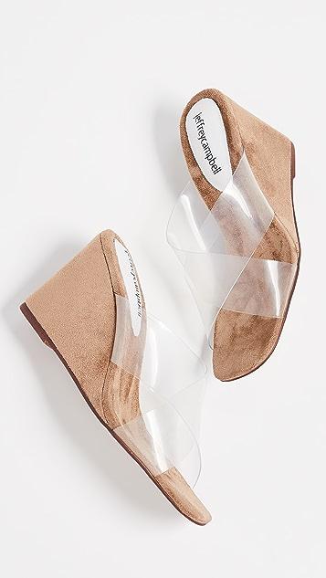 Jeffrey Campbell 神秘坡跟凉拖鞋