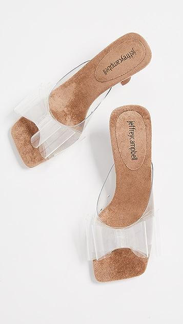 Jeffrey Campbell Couplet Kitten Heel Slides
