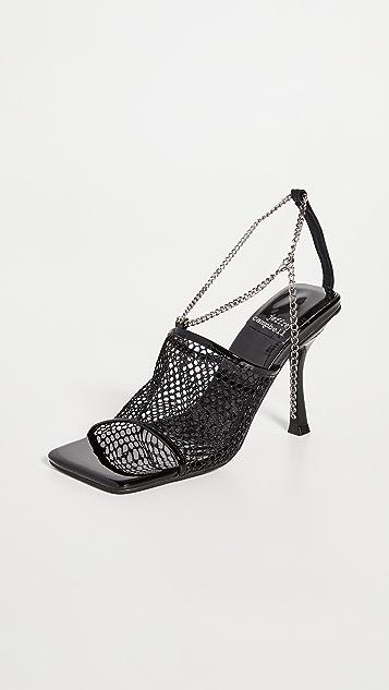 Jeffrey Campbell Ameline-Ms Net Chain Sandals