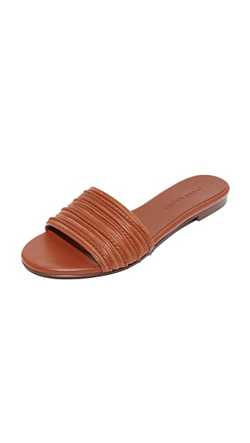 Jenni Kayne Knotted Slide Sandal - Saddle