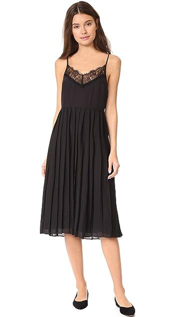 Jenni Kayne Pleated Lace Cami Dress