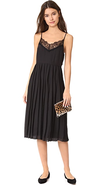 Jenni Kayne Pleated Lace Cami Dress