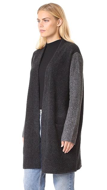 Jenni Kayne Yak Rib Sleeve Sweater Coat