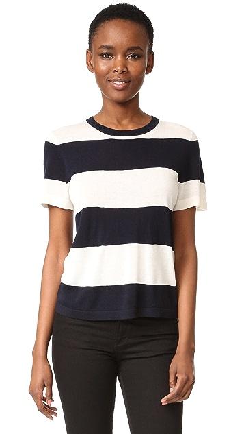 Jenni Kayne Rugby Stripe Crop T-Shirt