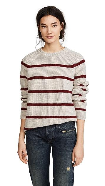 Jenni Kayne C Marl Stripe Fisherman Sweater