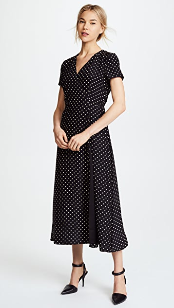 Jenni Kayne Dot Charmeuse Wrap Dress