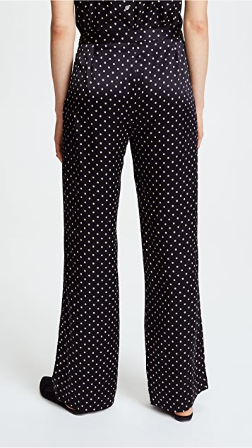 Jenni Kayne Dot Charmeuse Wide Leg Pants