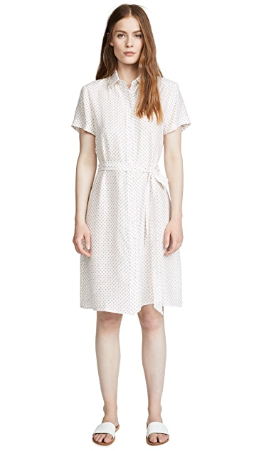 Jenni Kayne Dot Silk Button Dress
