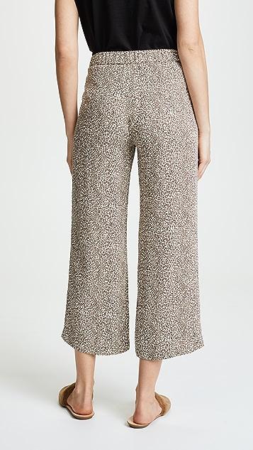 Jenni Kayne Leopard Cropped Pants