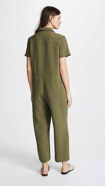 Jenni Kayne Crepe Short Sleeve Jumpsuit