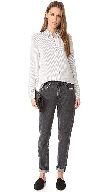 Jenni Kayne Шелковая рубашка на пуговицах сзади