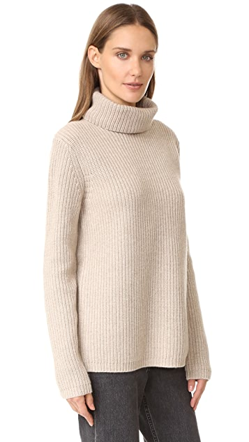 Jenni Kayne Rib Turtleneck Cashmere Sweater