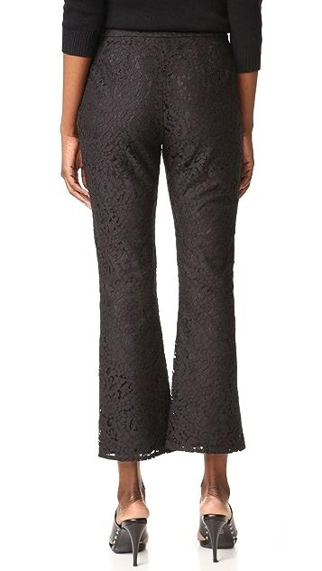 Jenni Kayne Lace Cropped Flare Trousers