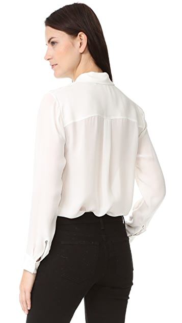 Jenni Kayne Scallop Boyfriend Shirt