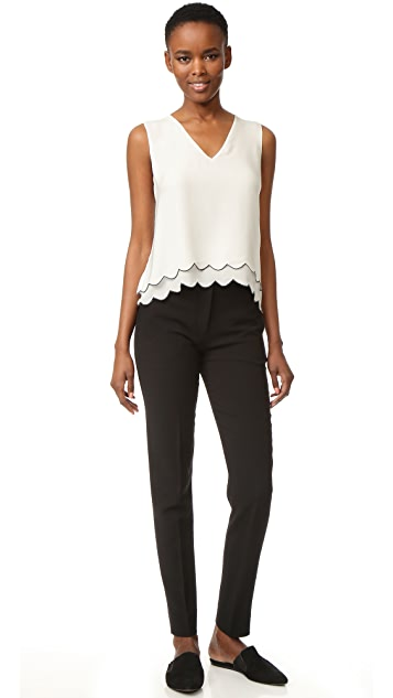Jenni Kayne Scallop V Neck Shell Top