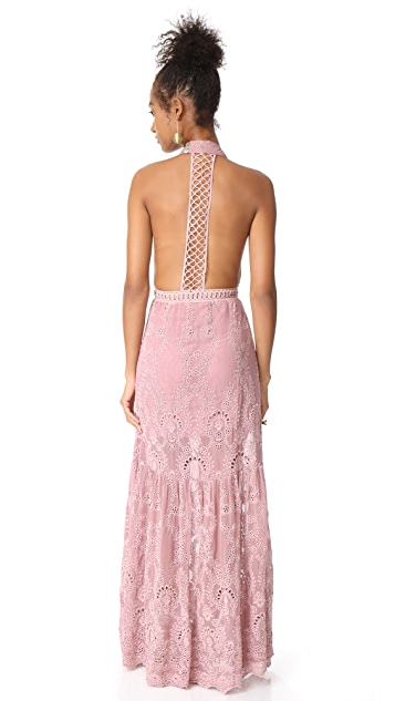 Jen's Pirate Booty Eyelet Queensland Choker Maxi Dress